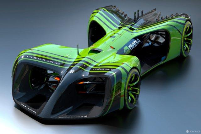 Autonomiczny bolid Roborace obsługiwany przez komputer autorstwa Nvidii