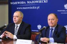 Wojewoda Zdzisław Sipiera prezentował projekt ustawy o powiększeniu Warszawy razem z posłem Jackiem Sasinem.
