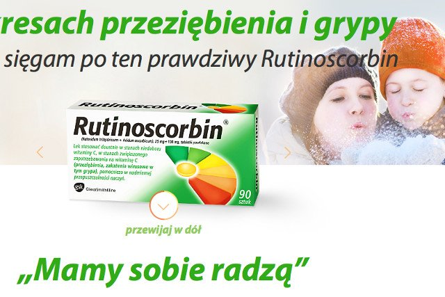 """Kiedy na rynek wszedł polski produkt koncern zaczął podkreślać, że """"jedyny prawdziwy"""" jest Rutinoscorbin"""