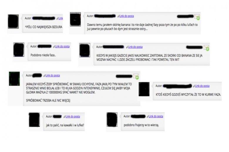 Fora internetowe są pełne opinii młodych ludzi na temat palenia skórek banana.