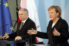 Spotkanie kanclerz Niemiec i prezesa PiS w 2006 roku. Jarosław Kaczyński był wówczas premierem.