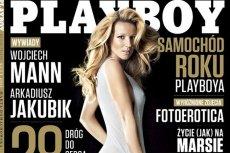 """Tenisistka Marta Domachowska na okładce lutowego """"Playboya""""."""