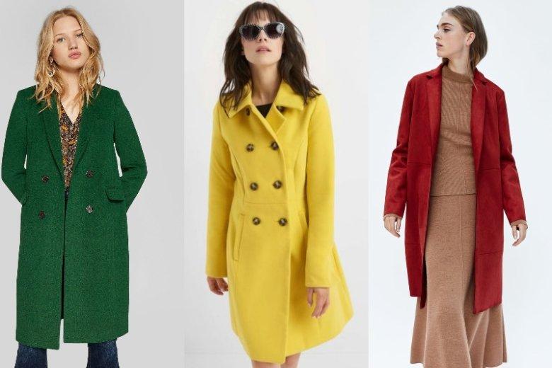 Intensywne kolory doskonale sprawdzają się jesienią. To mit, że o tej porze roku musimy nosić tylko stonowane barwy! Ceny: 179 zł,  199,99 zł, 139 zł