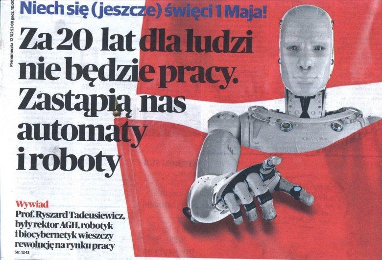 Kopia informacji umieszczonej na pierwszej stronie Gazety Krakowskiej w dniu 27.04.2018