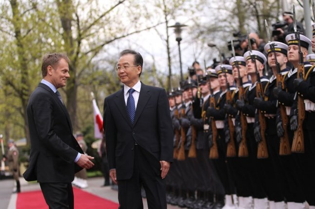 Premier Chin Wen Jiabao z Premierem Donaldem Tuskiem.