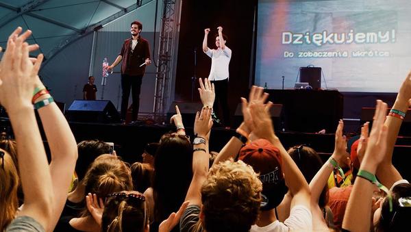 Koncert rapera na festiwalu Open'er w Gdyni.