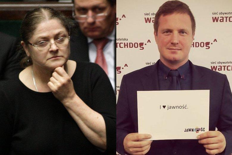 Krystyna Pawłowicz nazwała ich psami. A prezes Watchdog odpowiada: Jestem wdzięczny posłance
