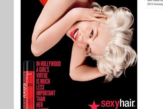 Reklama Sexy Hair z udziałem wizerunku Marilyn Monroe