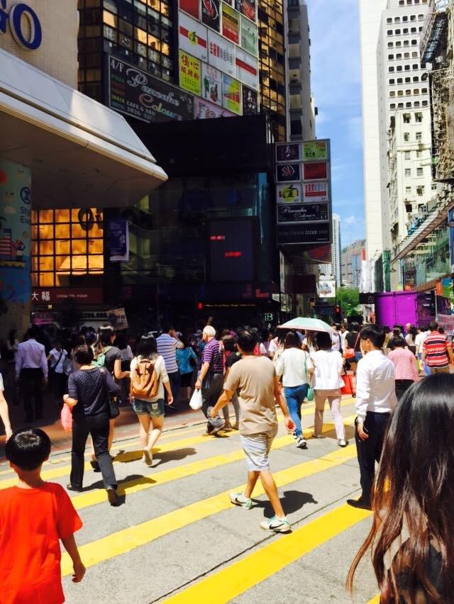Tak wyglądają ulice w Hong Kongu