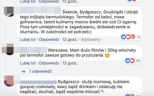 Komentarze kobiet na profilu Aborcyjny Dream Team on tour na Facebooku.