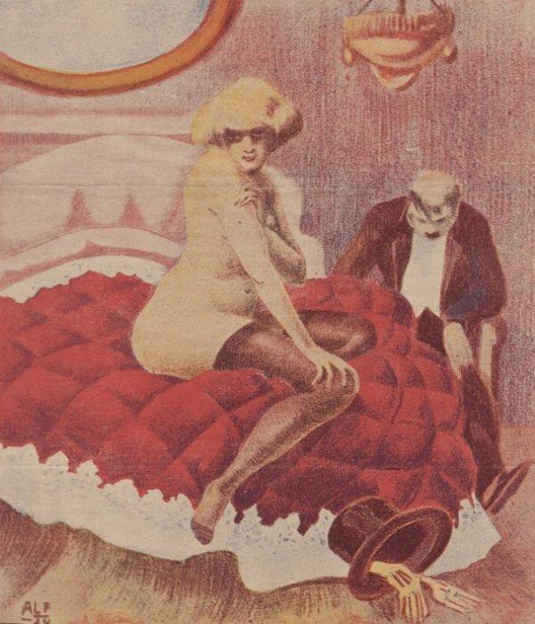 """Ilustracja okładkowa magazynu """"Bocian"""", 1924 r."""