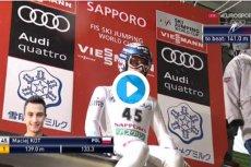 Maciej Kot wygrał konkurs PŚ w Sapporo ex aequo z Peterem Prevcem. Kamil Stoch dopiero na 18. miejscu