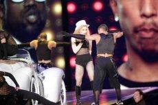 Madonna podczas koncertu na warszawskim lotnisku Bemowo