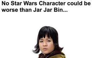 """""""Nie ma gorszego bohatera z """"Gwiezdnych wojen"""" niż Jar Jar Bin..."""""""