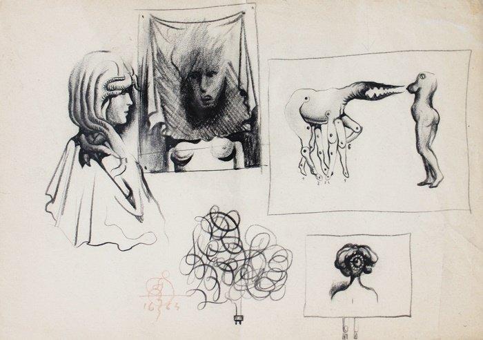 Franciszek Starowieyski, szkic, Galeria Sztuki Katarzyny Napiórkowskiej