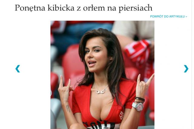Natalię Siwiec ogłoszono już najpiękniejszą kibicką Euro 2012