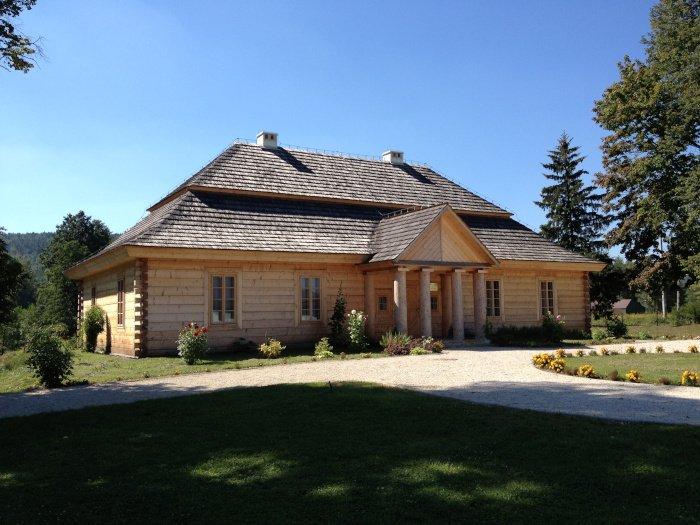 Rekonstrukcja dworku w Ciekotach, w którym Stefan Żeromski mieszkał z rodzicami w latach 1871-1883.