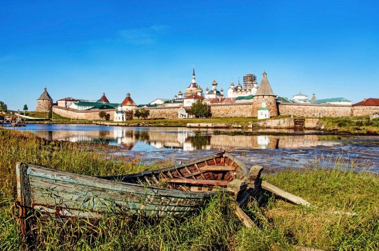 Klasztor Sołowieckie na Wyspach Sołowieckich na Morzu Białym w północnej Rosji.