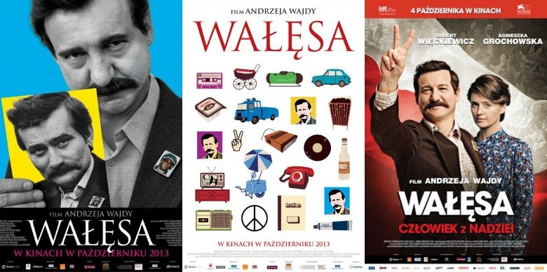 """Trzy plakaty """"Wałęsy. Człowieka z nadziei"""""""