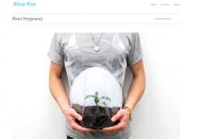 Dzięki młodej projektantce można chodzić w ciąży z rośliną.