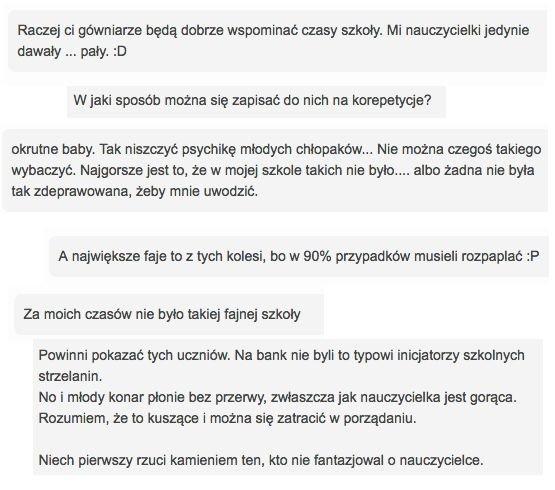 Komentarze pod artykułem o nauczycielkach molestujących uczniów