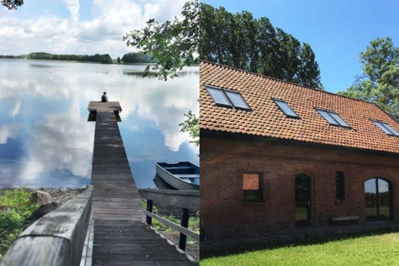 Prywatny pomost, łódki i rower wodny - to tylko część z atrakcji Lisewa