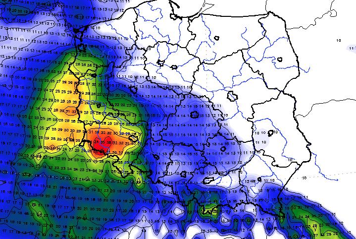 Orkan Ksawery nadchodzi, prognoza pogody na czwartek i piątek
