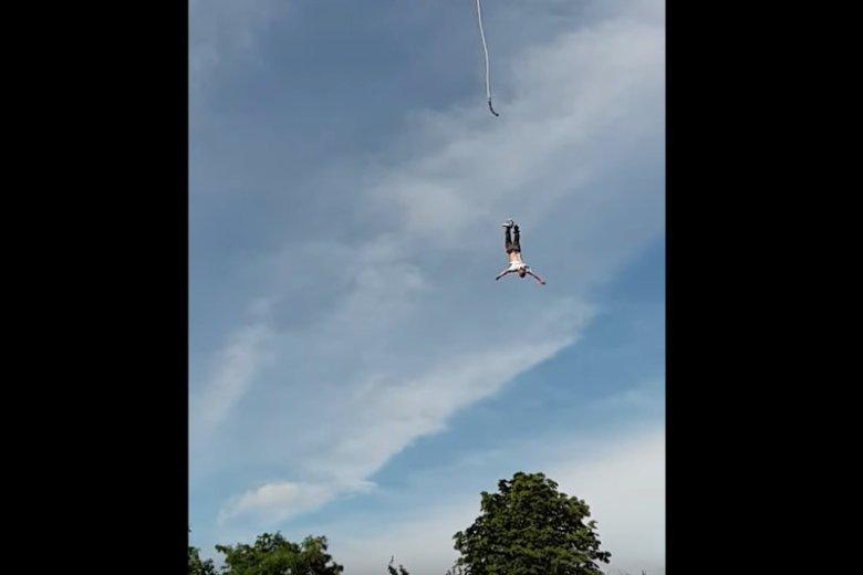 Gdynia: policja odkryła, że lina na bungee była pęknięta.
