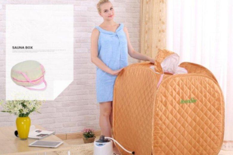 Taka sauna zmieści się nawet w najmniejszej kawalerce. Po użyciu możesz ją szybko złożyć i schować do szafy. Cena: ok. 217 zł