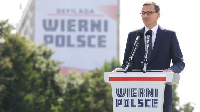 Premier przemawiał podczas obchodów Święta Wojska Polskiego w Katowicach.