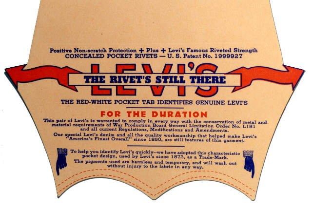 Motyw przeszyć w kształcie łuku był na tylnych kieszeniach modelu 501® od 1873 roku.