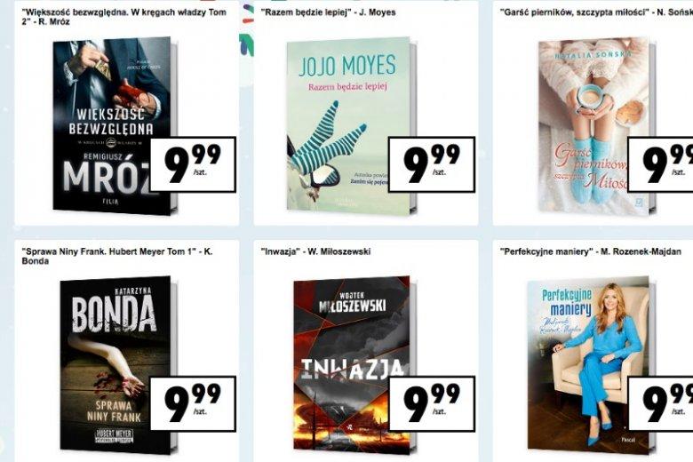 W biedronce za książki zapłacicie zaledwie niecałe 10 złotych