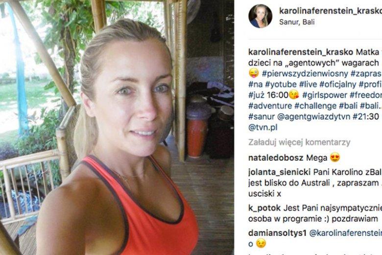 Karolina Ferenstein-Kraśko bez makijażu na Instagramie