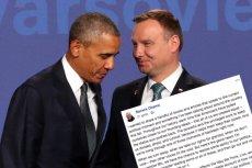 Były prezydent Stanów Zjednoczonych, Barack Obama, poleca przeczytać artykuł o polaryzacji w Polsce