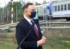 Andrzej Duda ogłosił budowę stacji kolejowej w gminie Halinów.