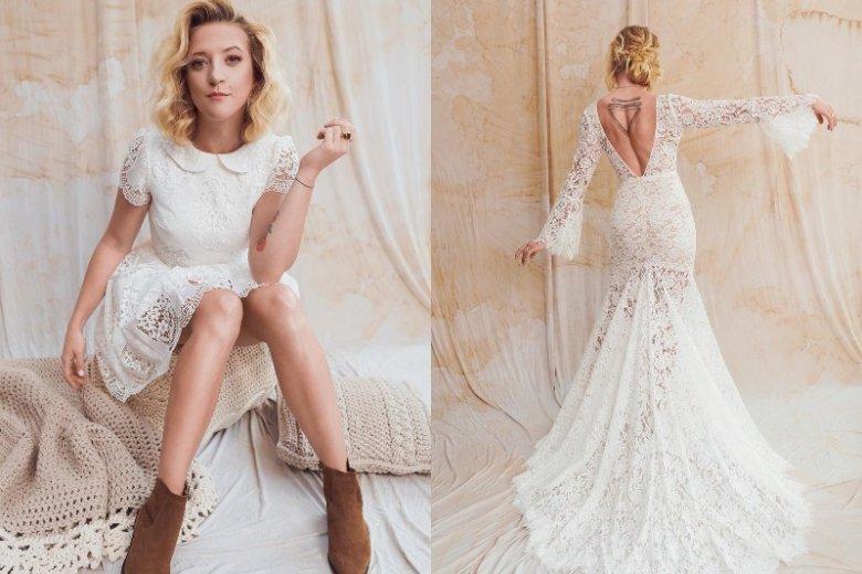 ab24015917 Lara Gessler wraz z Asią Kubiak stworzyły kolekcję sukni ślubnych. To  delikatne kreacje w stylu