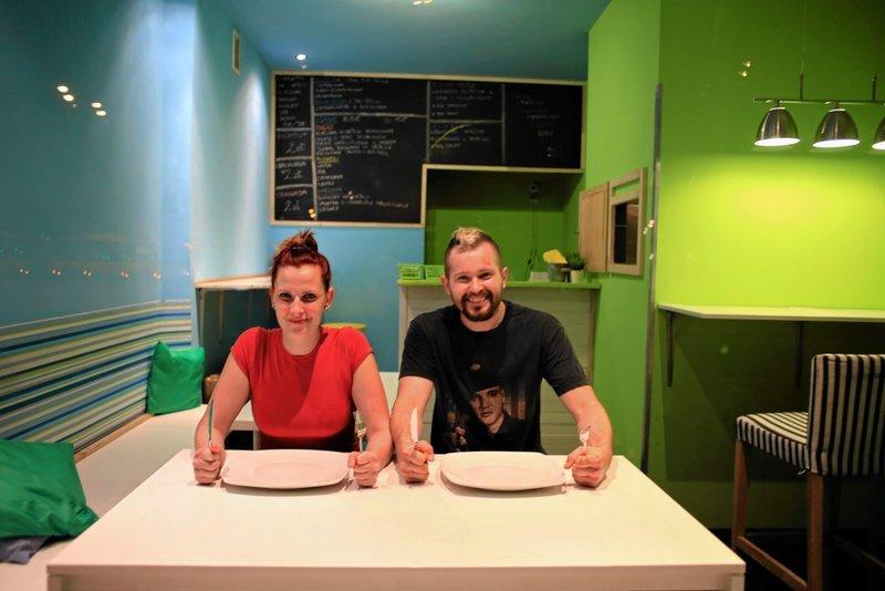 Marta i Artur, właściciele przemiłej knajpki Eat it