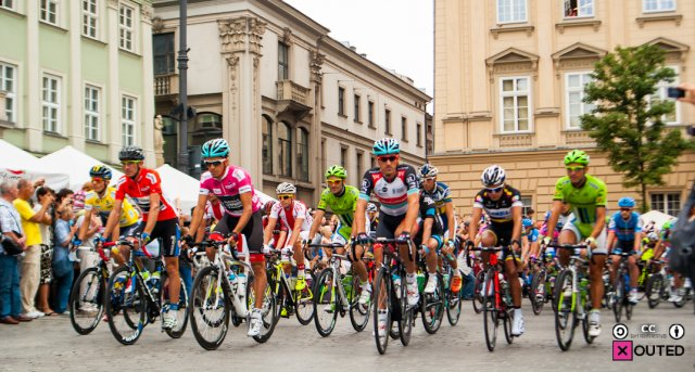 Start 3. etapu Tour de Pologne, krakowski rynek