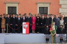 Prezydent Andrzej Duda przemawiał na Placu Zamkowym z okazji Święta Konstytucji 3 Maja.