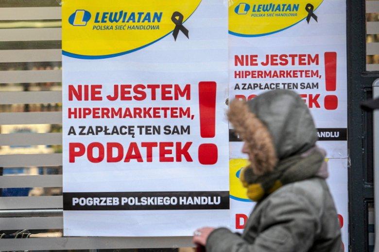 Zimą 2016 r. handlowcy z Lewiatana protestowali przeciwko podatkowym zmianom proponowanym przez rząd.