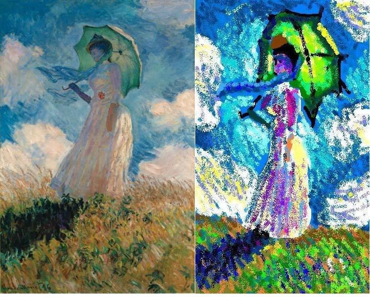 Niektórzy łączą paintowy styl z oryginalnym stylem artysty, tworząc nową gałąź sztuki