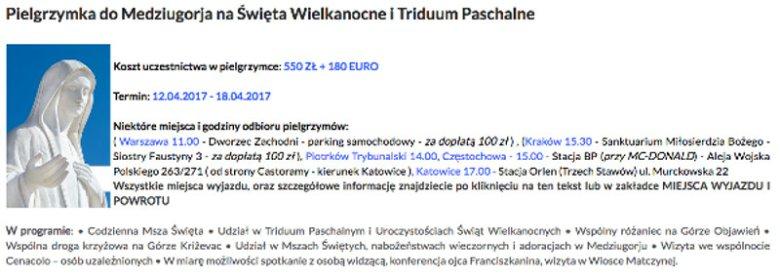 Watykan nie zaleca oficjalnych pielgrzymek do Medjugorje. Organizatorzy liczą, że ich nie zakaże.