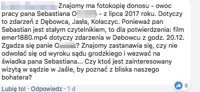 Internauci skarżą się na kierowcę z Jasła, który - ich zdaniem - prowokuje ich na drodze i fotografuje ich wykroczenia, a następnie zdjęcia wysyła do Komendy Policji.