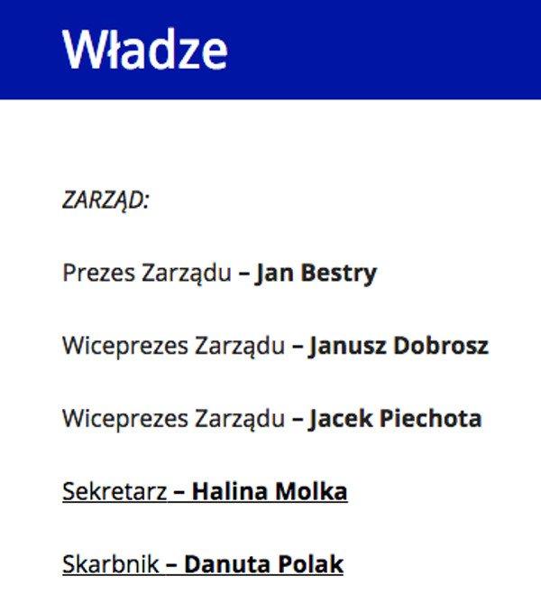 Władze Związku Polskich Parlamentarzystów - pełne polityczne spektrum.