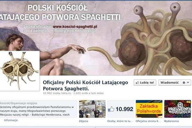 Oficjalna strona Polskiego Kościoła Latającego Potwora Spaghetti.
