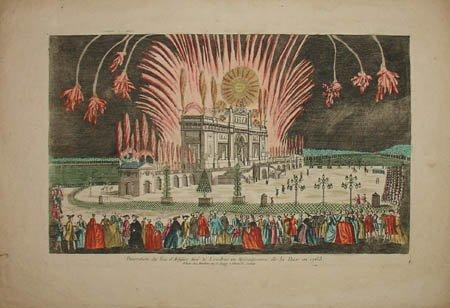 Pokaz fajerwerków, Londyn, 1763
