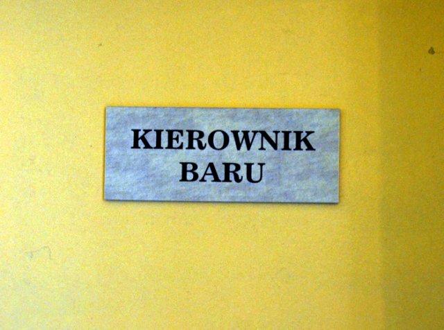 Kierownik Baru w Barze Gdańskim