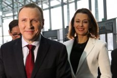 Prezes TVP Jacek Kurski i Anna Popek