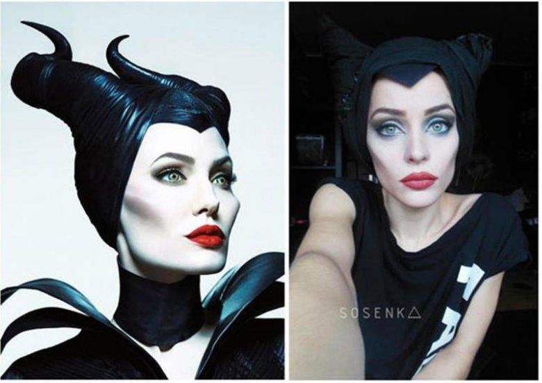 """Sosenka jako Angelina Jolie z filmu """"Czarownica""""."""