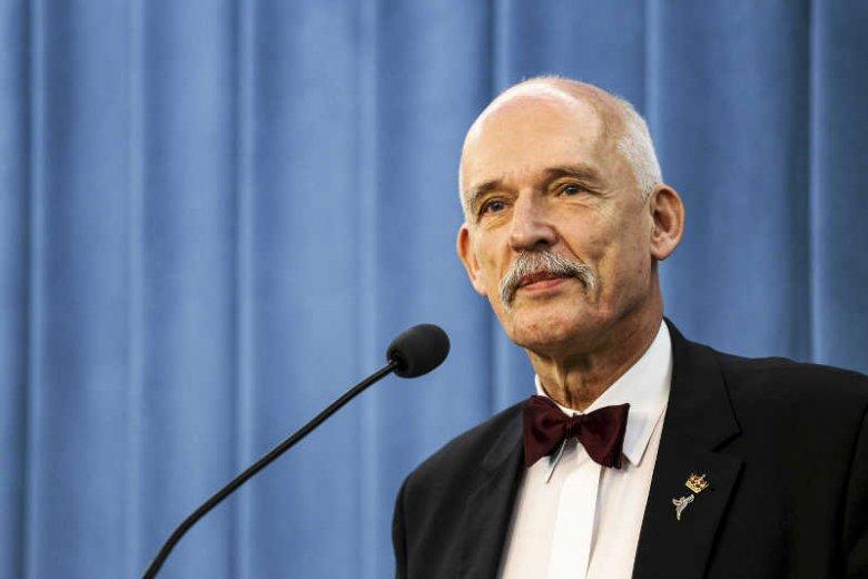Roman Giertych chwali się, że to on napisał ordynacjęwyborczą do Parlamentu Europejskiego. Dzięki niej mandaty zdobyła partia Janusza Korwin-Mikkego.